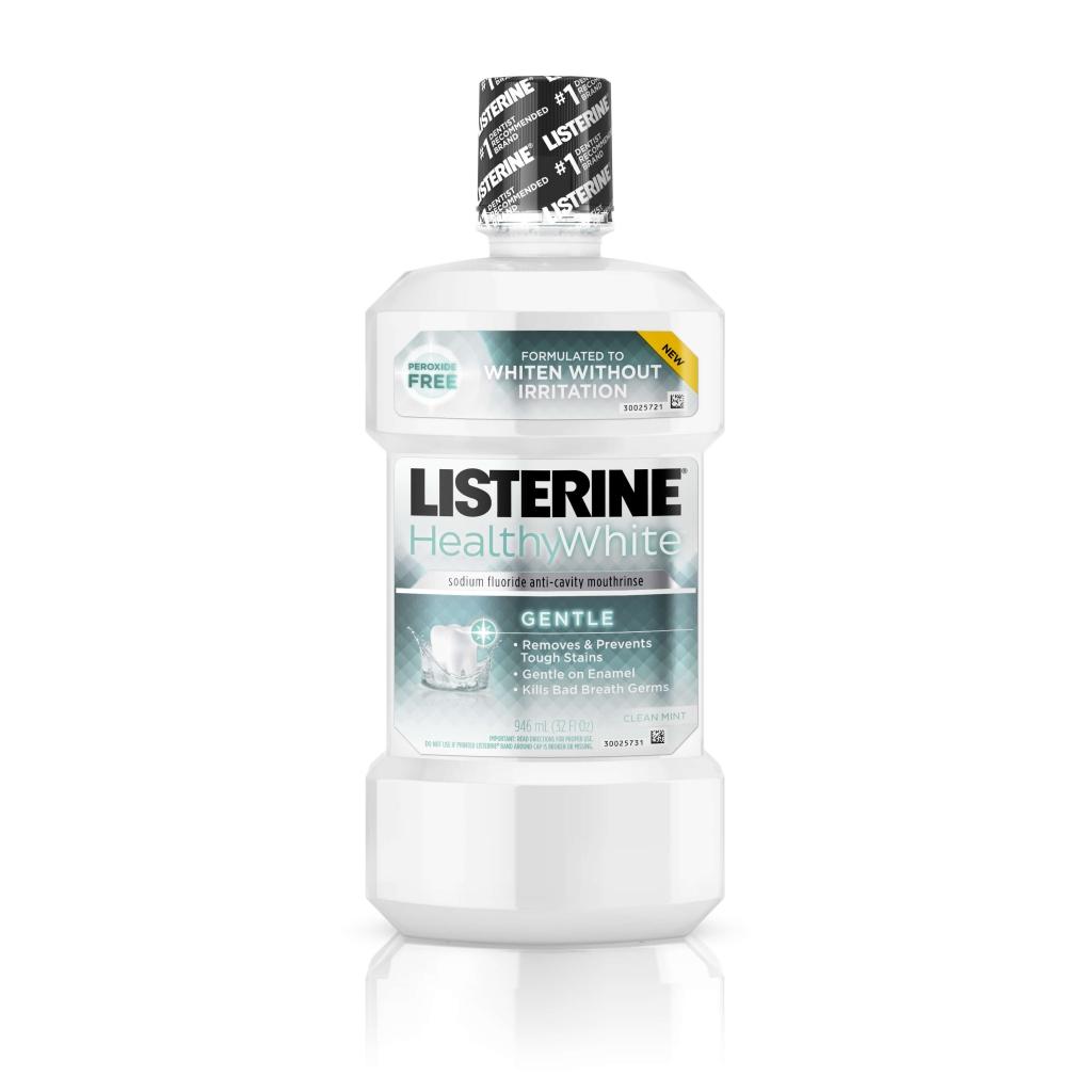 LISTERINE® HEALTHYWHITE™ GENTLE Sodium Fluoride  Anticavity Mouthrinse