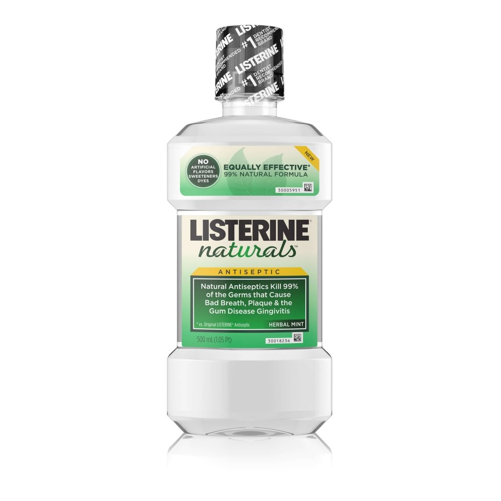 LISTERINE®NATURALS HERBAL MINT Antiseptic Mouthwash